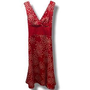 TED BAKER LONDON RED 100% SILK DRESS SZ 4